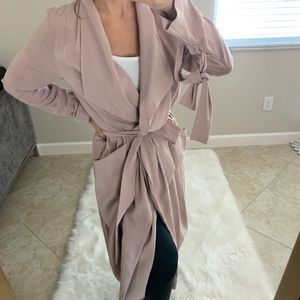 Express Dusty Pink Trench Coat